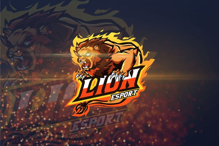 Thumbnail for Lion - AI and PSD Esport Logo Template