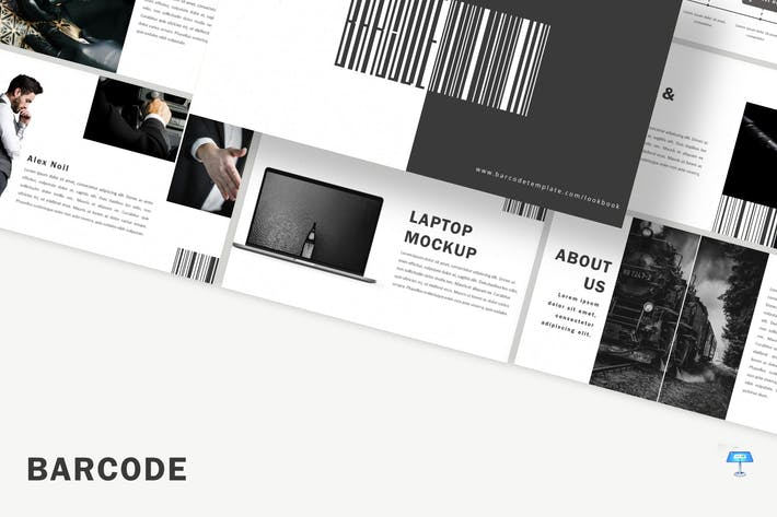 Cover Image For Barcode - Keynote Template