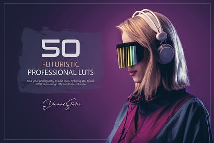 50 Futuristic LUTs and Presets Pack
