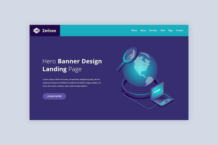 Thumbnail for Zerloxe - Hero Banner Template