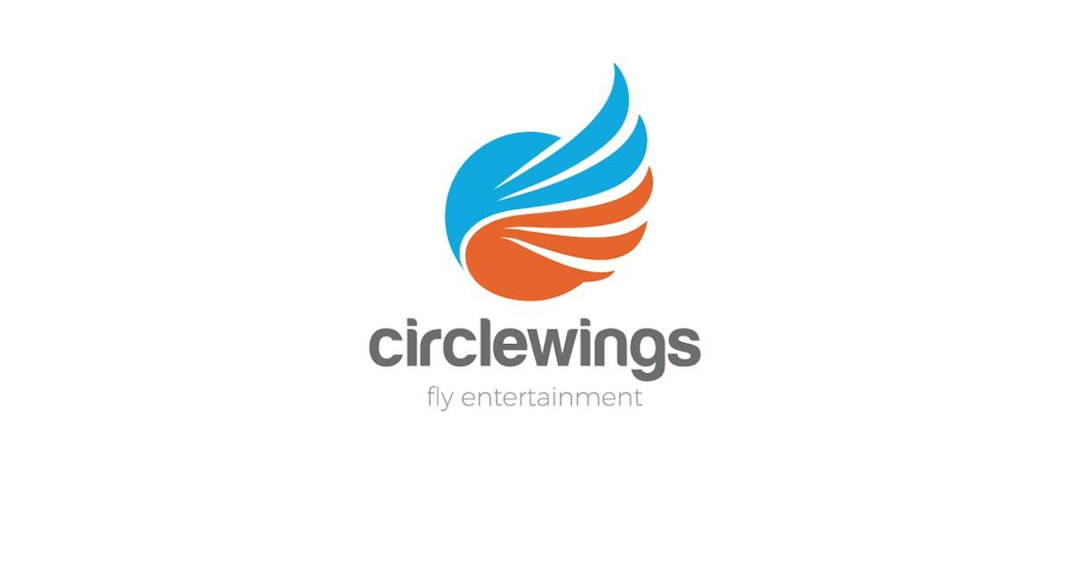 Download Logo Wings Flying Circle Abstract by Sentavio