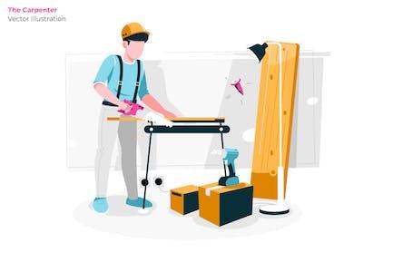 The Carpenter - Vector Illustration
