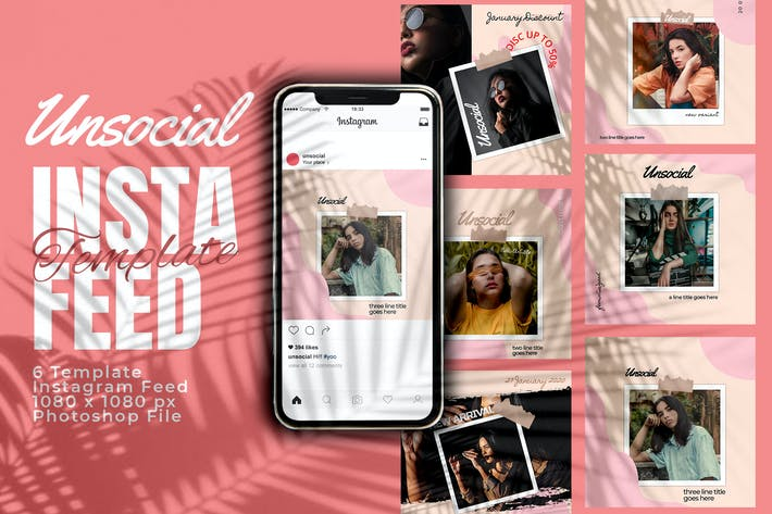 Unsocial Promotion Instagram Feed Post Template