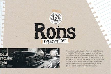 RONS - Typewriter