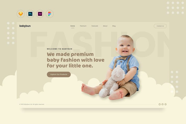 Cover Image For DailyUI.V18 - Baby eCommerce Fashion Web Landing