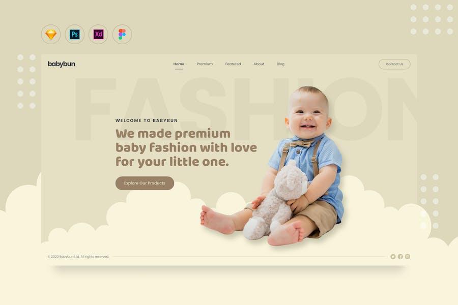 DailyUI.V18 - Baby eCommerce Fashion Web Landing