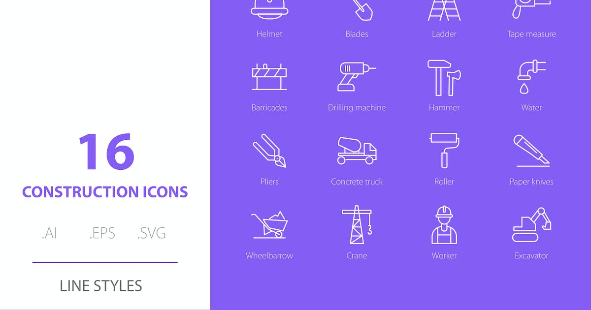 Download Construction Icon Line Styles by Richard_2010