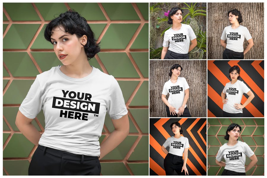 Women's Bella + Canvas 3001 T-Shirt Mockups