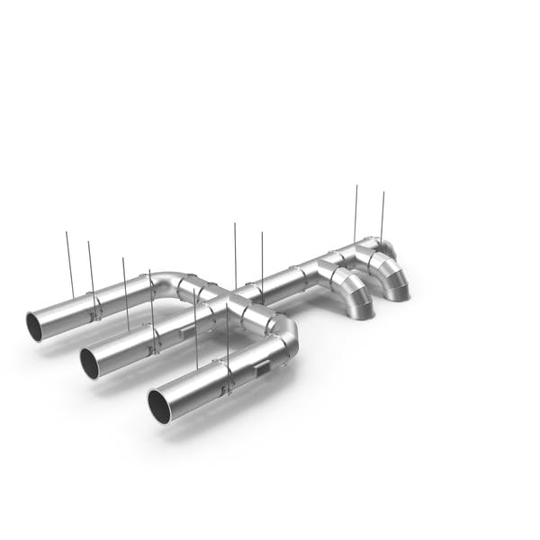 Ventilation Shaft Pipe System Set