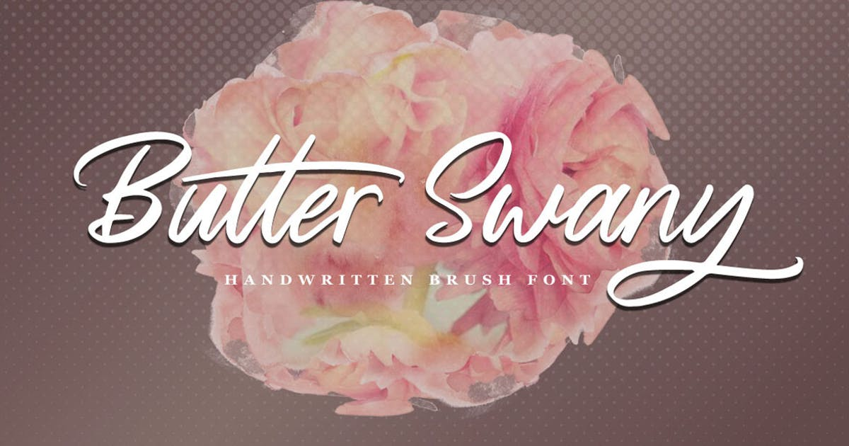 Download Butter Swany - Handwritten Font by Voltury