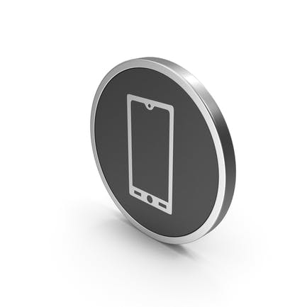 Silver Icon Smart Phone