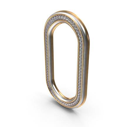 Diamantes Bling Letra O