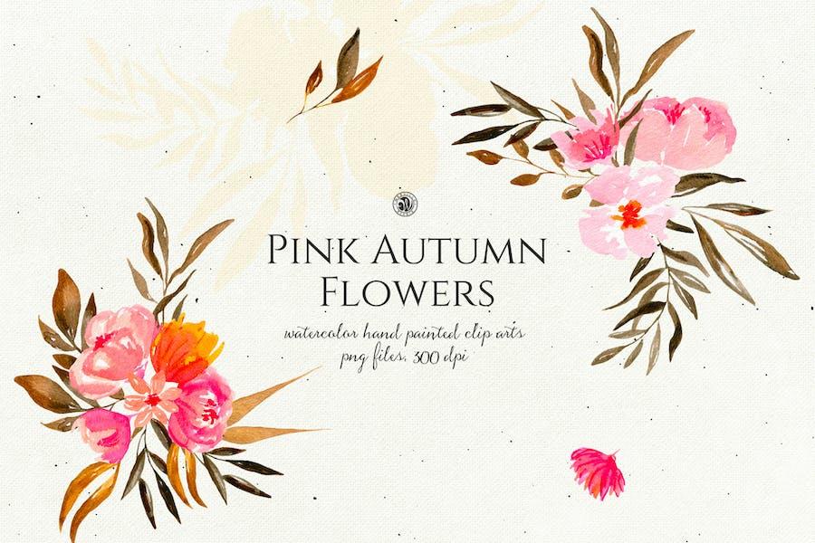 Pink Autumn Flowers vol.2