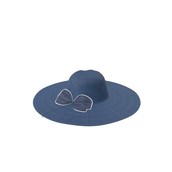 Hat With Bow Blue