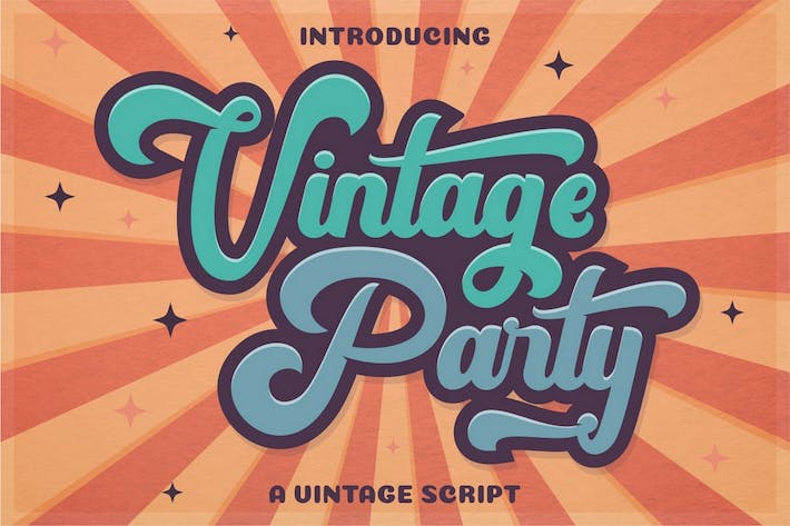 Thumbnail for Vintage Party - Fuente de escritura retro negrita