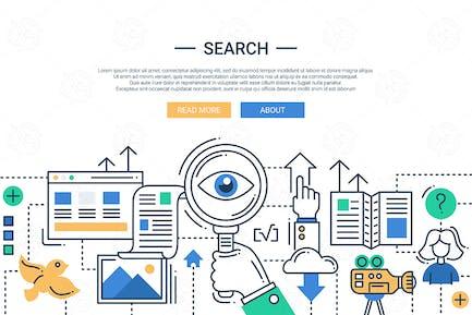 Ilustración de la imagen Moderno de la línea del Motor de búsqueda