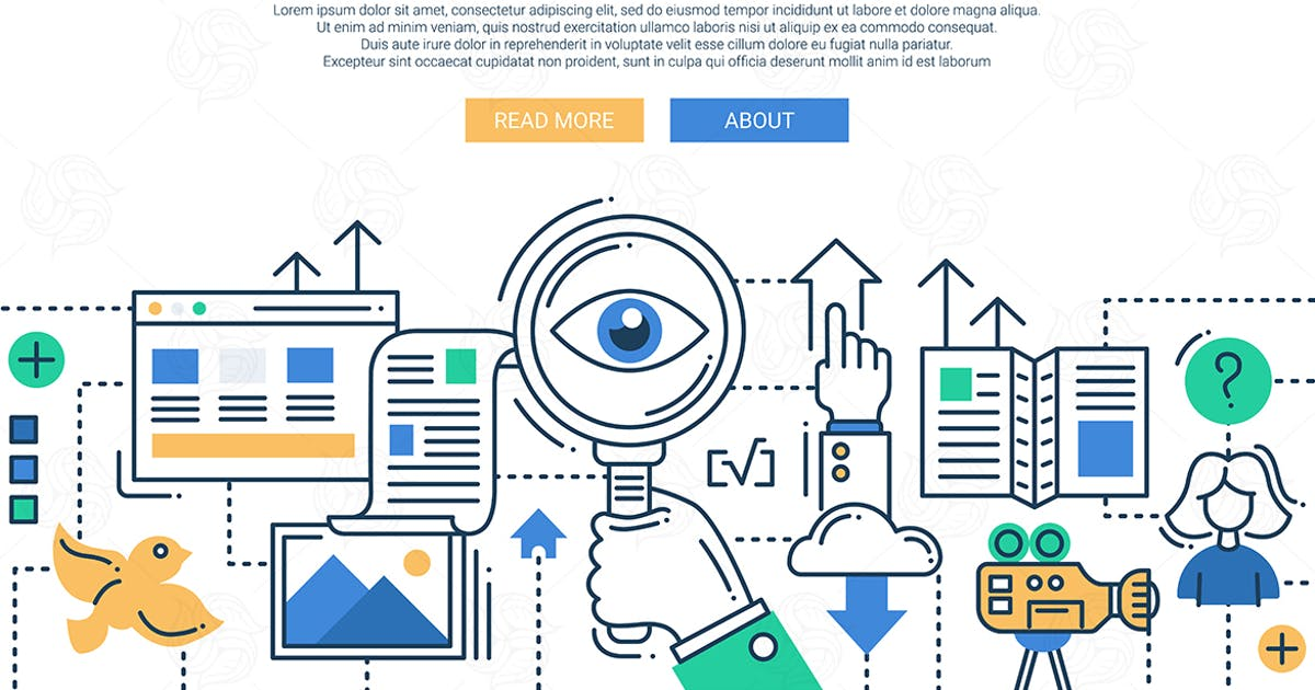 Illustration of modern search engine line image by BoykoPictures