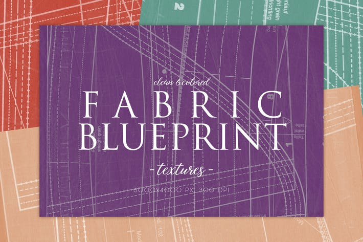 Clean Fabric Blueprint Textures 2