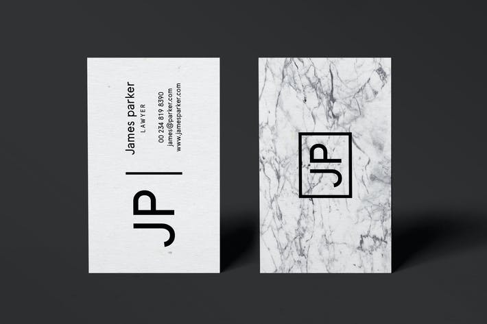 Thumbnail for James Marble Business Card Template