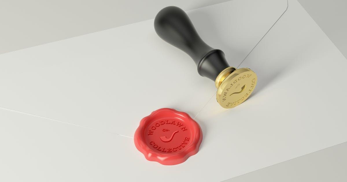 Download Wax Seal Stamp Photoshop Mockups by artimasa_studio
