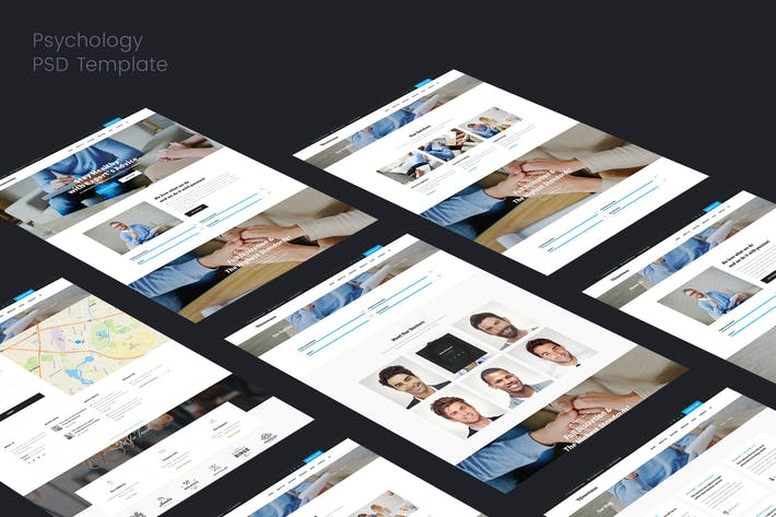 Cover Image For Psychology & psychiatrist PSD Template