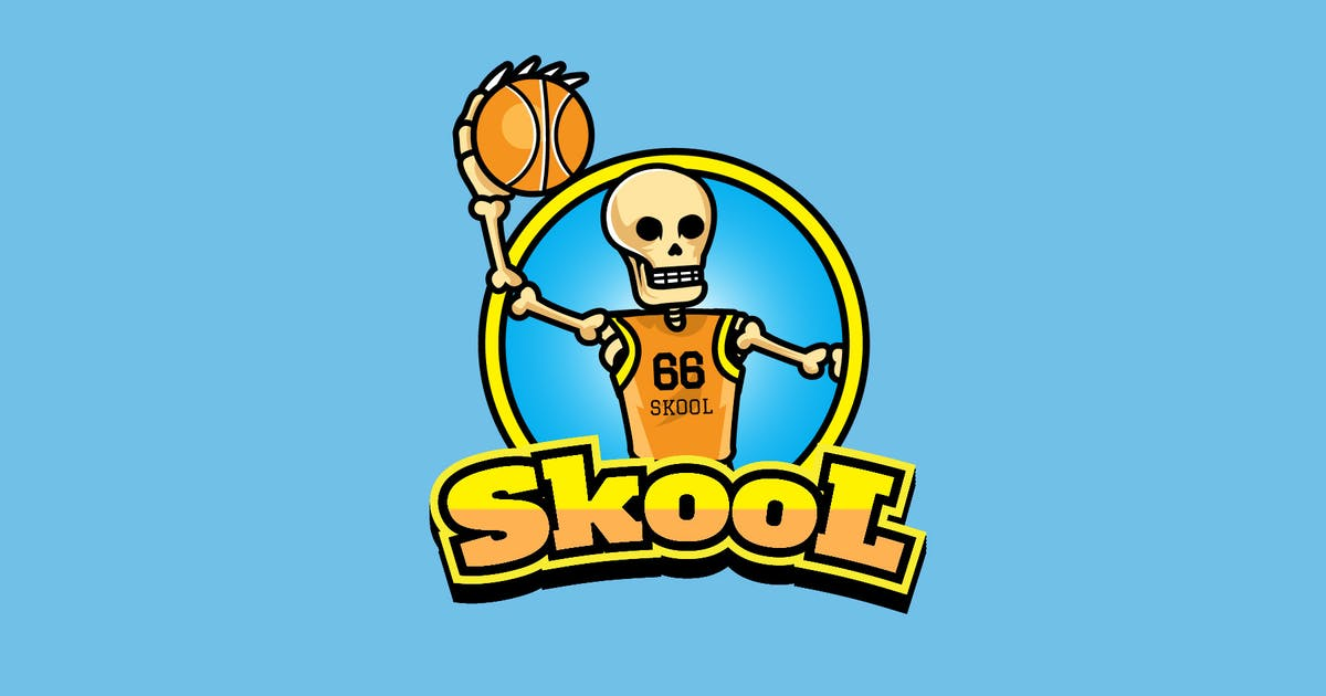 Download skull basketball - Mascot Logo by aqrstudio