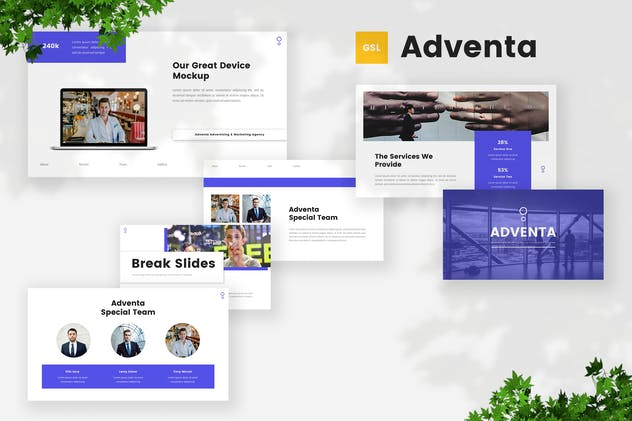 Advertising & Marketing Google Slides Template
