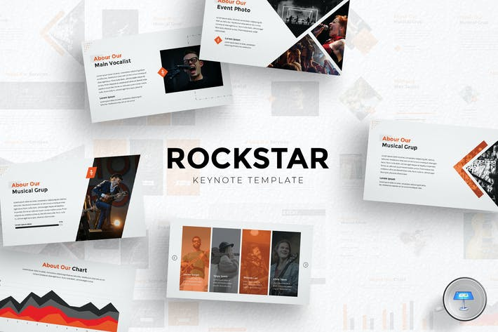 Thumbnail for Rockstar Keynote Template