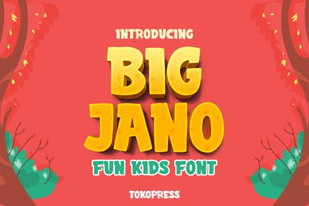 Big Jano - Kids font