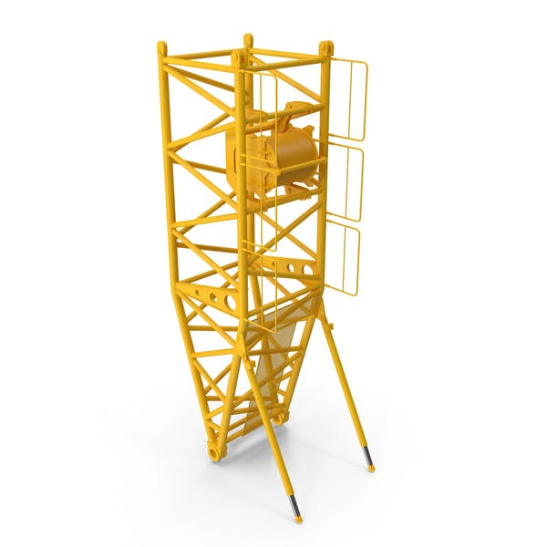Crane S Pivot Section 10m Yellow