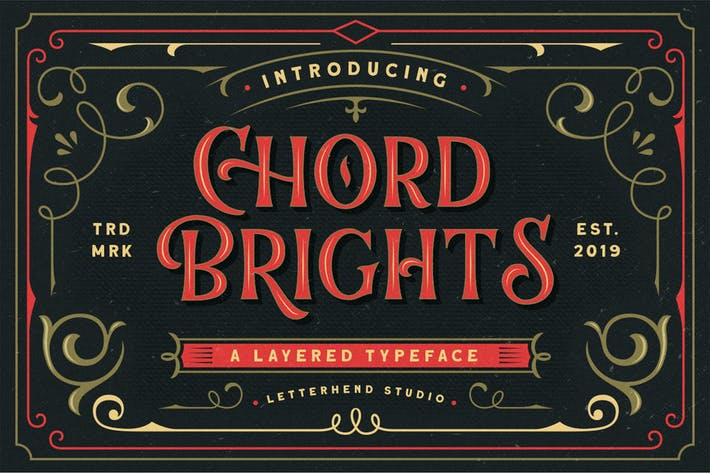 Thumbnail for Chord Brights - A Layered Typeface