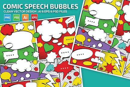 Comic Speech Bubbles Design