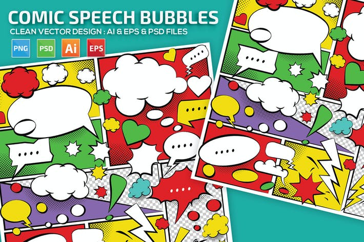 Thumbnail for Comic Speech Bubbles Design