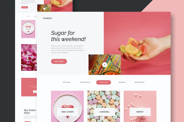 Thumbnail for Candy Shop - Website