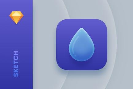Droplet — Modern iOS Sketch App Icon