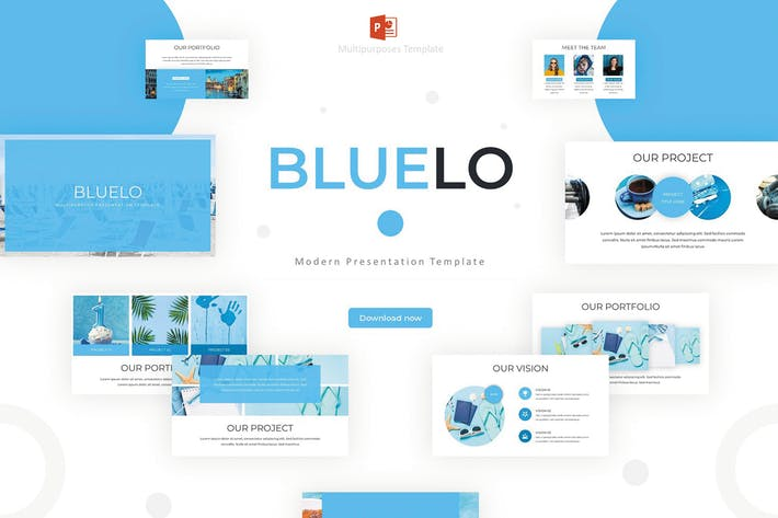 Thumbnail for Bluelo - Powerpoint Template