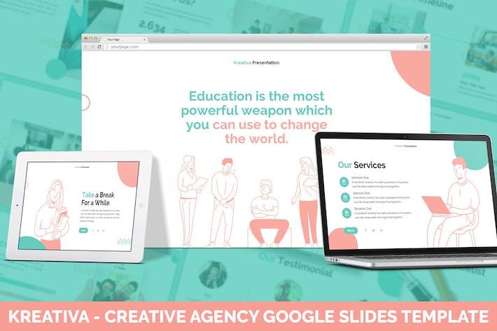 Thumbnail for Kreativa - Creative Agency Google Slides Template