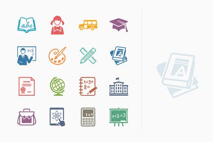 Education Icons Set 1 - Colored Series