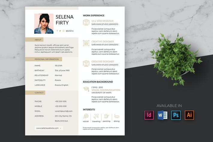 Thumbnail for Creative Resume Template Pro
