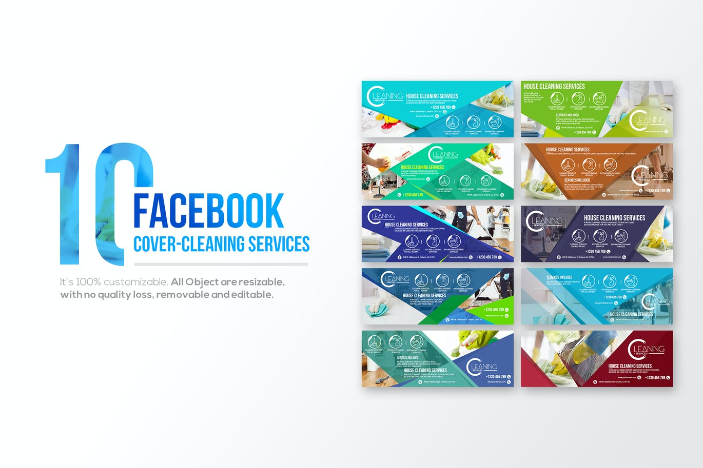 10 facebook cover cleaning service by wutip on envato elements 10 facebook cover cleaning service