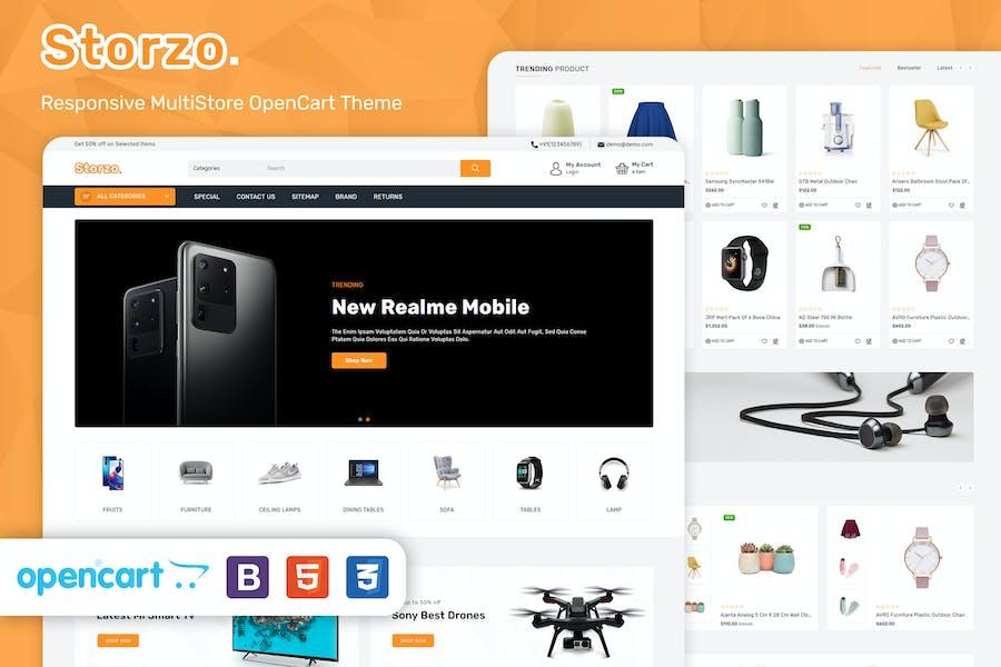 Storzo - Tema Opencart 3 de comercio electrónico multipropósito