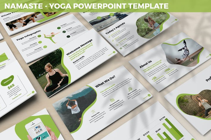 Thumbnail for Namaste - Yoga Powerpoint Template