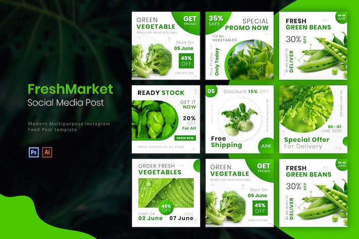 Thumbnail for Fresh Market | Socmed Post