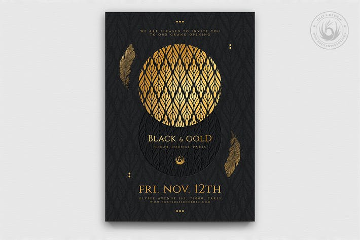 Thumbnail for Black and Gold Flyer Template V13