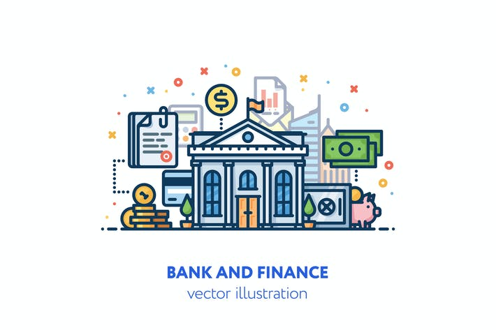Thumbnail for Bank and finance illustration