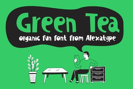 Té verde - Fuente divertida orgánica