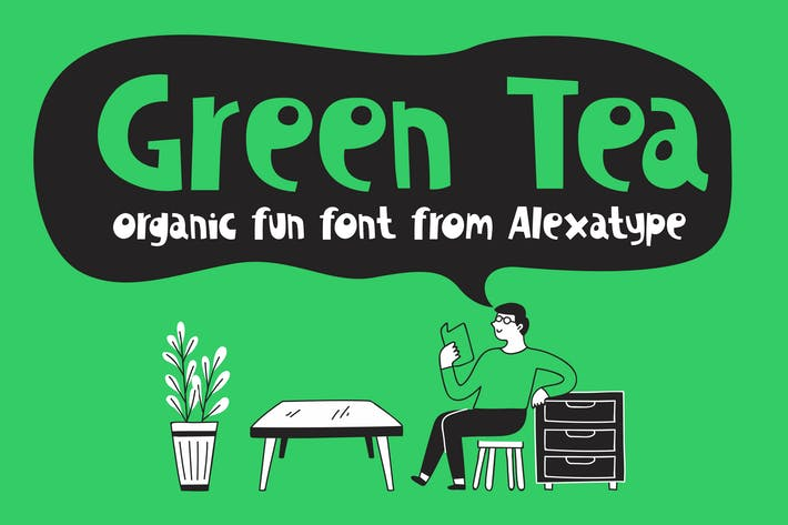 Green Tea - Organic Fun Font