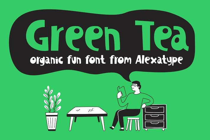 Thumbnail for Green Tea - Organic Fun Font