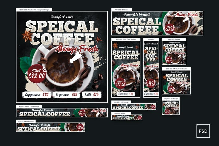 Thumbnail for Coffee Time Banners Ad