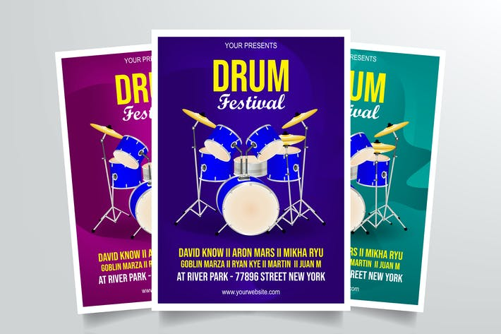 Thumbnail for Drum Festival Flyer Template